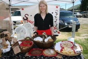 Sweet indulgence booth at the market