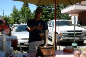 keg of rootbeer at the market