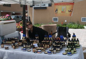 Sun Valley Remedies display at the market