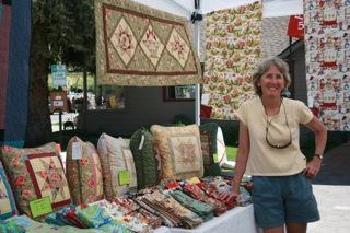 Sally at her display at the market